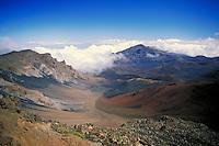 Haleakala Crater, Maui. geology, volcano, volcanoes, landscape. Maui Hawaii.