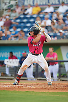 Pensacola Blue Wahoos Ben Rortvedt (1) at bat during a Southern League game against the Mobile BayBears on July 25, 2019 at Blue Wahoos Stadium in Pensacola, Florida.  Pensacola defeated Mobile 2-1 in the first game of a doubleheader.  (Mike Janes/Four Seam Images)