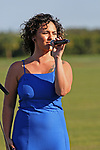 WELLINGTON, FL - NOVEMBER 25:  Gabriella sings the Brazilian National Anthem.  At the USPA International Cup at the Grand Champions Polo Club, on November 25, 2017 in Wellington, Florida. (Photo by Liz Lamont/Eclipse Sportswire/Getty Images)