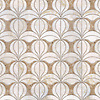 Calla, a waterjet mosaic shown in honed Lavigne and polished Cloud Nine, is part of the Miraflores collection by Paul Schatz for New Ravenna.