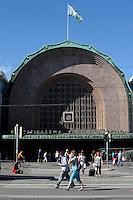 Helsinki, Finlandia.La stazione. The station.