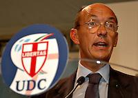 Roma 12 09 2004 Dibattito:Italia,Europa,USA:competizione o collaborazione?Marco Follini Segretario Nazionale UDC                      photo:Serena Cremaschi Insidefoto