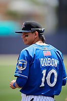 Biloxi Shuckers shortstop Mauricio Dubon (10) before a game against the Jackson Generals on April 23, 2017 at MGM Park in Biloxi, Mississippi.  Biloxi defeated Jackson 3-2.  (Mike Janes/Four Seam Images)