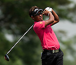 Thongchai Jaidee in action on the fourth tee during Round 1 of the CIMB Asia Pacific Classic 2011.  Photo © Andy Jones / PSI for Carbon Worldwide