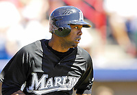 18 March 2007: Florida Marlins outfielder Alejandro De Aza in action against the Washington Nationals at Space Coast Stadium in Viera, Florida...Mandatory Photo Credit: Ed Wolfstein Photo