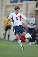 Bobby Convey of the U.S. National team kicks the ball against Wales at Spartan Stadium, in San Jose, Calif., Monday, May 26, 2003. The USA won 2-0.