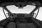 Stock photo of straight dashboard view of 2021 Mercedes Benz eSprinter - 4 Door Cargo Van Dashboard