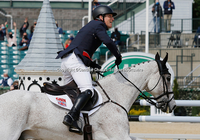 April 25, 2021: #68 Ballaghmor Class and rider Oliver Townend win the 2021 Land Rover Three Day Event at the Kentucky Horse Park in Lexington, KY on April 25, 2021.  Candice Chavez/ESW/CSM