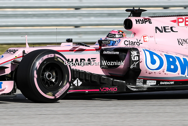 Sergio Perez (11) of Mexico in action during qualifying before this weekends Formula 1 United States Grand Prix race at the Circuit of the Americas race track in Austin,Texas.