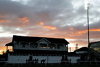 The Richmond sunset during the English National League match between Richmond and Blackheath  at Richmond Athletic Ground, Richmond, United Kingdom on 4 January 2020. Photo by Carlton Myrie.