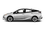 Car driver side profile view of a 2016 Toyota Prius Three Touring 5 Door Hatchback
