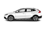 Car Driver side profile view of a 2017 Volvo V40-Cross-Country - 5 Door Wagon Side View
