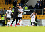 St Johnstone v Lask…26.08.21  McDiarmid Park    Europa Conference League Qualifier<br />The Lask players celebrate at full time<br />Picture by Graeme Hart.<br />Copyright Perthshire Picture Agency<br />Tel: 01738 623350  Mobile: 07990 594431