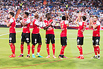 Stade de Reims's players during the XXXVII Santiago Bernabeu Trophy in Madrid. August 16, Spain. 2016. (ALTERPHOTOS/BorjaB.Hojas)