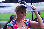 Torential rain fell at Queen's Plate  at Woodbine Raceway in Toronto, Canada on July 07, 2013.