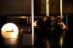 PLIS....pour deux danseuses, une percussionniste dans un dispositif..vidéo et électroacoustique.......Clémence Coconnier, chorégraphie et conception vidéo....Marco Antonio Suárez Cifuentes, composition musicale et réalisation informatique - Electronique temps réel.......Kasper Toeplitz, dispositif vidéo et réalisation informatique.....Anne-Laure Pecot, Melissa Lezin, danse..Hélène Colombotti, percussions......Sylvie Garot, lumière..Juliette Bogers, stylisme..Fondation Royaumont..Asnières sur Oise..le 03/09/2010....© Laurent Paillier / photosdedanse.com..All rights reserved..