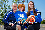 Tralee Imperials Mary Gardiner, Oisin and Aoife Bourke return to basketball training in Blennerville NS on Saturday.