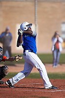 Ruben (RJ) Christie (54), from Langhorne, Pennsylvania, while playing for the Dodgers during the Under Armour Baseball Factory Recruiting Classic at Gene Autry Park on December 30, 2017 in Mesa, Arizona. (Zachary Lucy/Four Seam Images)