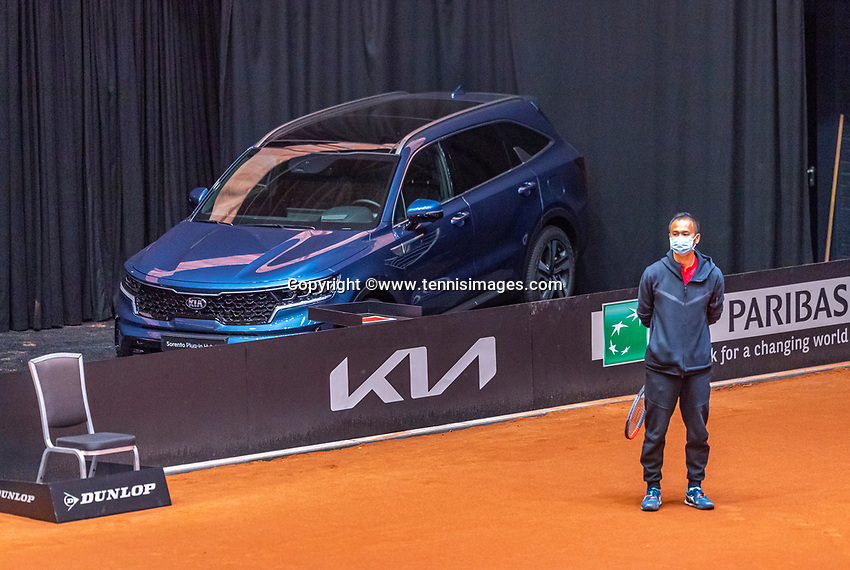 Den Bosch, The Netherlands, April 17, 2021,    Maaspoort, Billie Jean King Cup  Netherlands -  China , KIA<br /> Photo: Tennisimages/Henk Koster