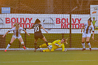 Renate Mehevets (15) of Charleroi , Luna Vanzeir (10) of OHL , Laurie Filleur (21) of Charleroi , Madison Hudson (8) of Charleroi  pictured during a female soccer game between Sporting Charleroi and Oud Heverlee Leuven on the 17 th matchday of the 2020 - 2021 season of Belgian Scooore Womens Super League , tuesday 30 th of March 2021  in Marcinelle , Belgium . PHOTO SPORTPIX.BE | SPP | STIJN AUDOOREN