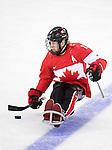 Adam Dixon, Sochi 2014 - Para Ice Hockey // Para-hockey sur glace.<br /> Team Canada takes on Sweden in Para Ice Hockey // Équipe Canada affronte la Suède en para-hockey sur glace. 08/03/2014.