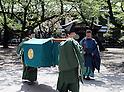 Yaskuni Shrine in Tokyo holds spring festival