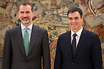 King Felipe VI of Spain receive in audience to general secretary of Socialist Party (PSOE), Pedro Sanchez Perez-Castejon at Zarzuela Palace in Madrid, July 04, 2017. Spain.<br /> (ALTERPHOTOS/BorjaB.Hojas)