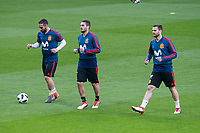 Spain Daniel Carvajal, Koke Ressurecion and Nacho Fernandez during training session the day before Spain and Argentina match at Wanda Metropolitano in Madrid , Spain. March 26, 2018. (ALTERPHOTOS/Borja B.Hojas) /NortePhoto NORTEPHOTOMEXICO