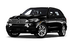 Stock pictures of low aggressive front three quarter view of a 2018 BMW X5 xDrive40e 4WD 5 Door SUV