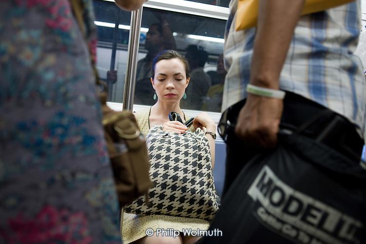 Subway passengers, Manhattan, New York.