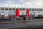 Joggers running past The Riverside stadium Middlesbrough. 16th January 2021, Middlesbrough 0 Birmingham 1.