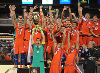 East Rutherford, NJ. - June 26, 2016: Chile defeated Argentina 4-2 on penalty kicks in the final of the Copa America Centenario USA 2016 at MetLife Stadium.