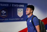 Lyon, France - Saturday June 09, 2018: Weston McKennie during an international friendly match between the men's national teams of the United States (USA) and France (FRA) at Groupama Stadium.