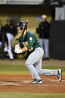 Siena Saints outfielder Alex Tuccio (20) at bat during the opening game of the season against the UCF Knights on February 13, 2015 at Jay Bergman Field in Orlando, Florida.  UCF defeated Siena 4-1.  (Mike Janes/Four Seam Images)