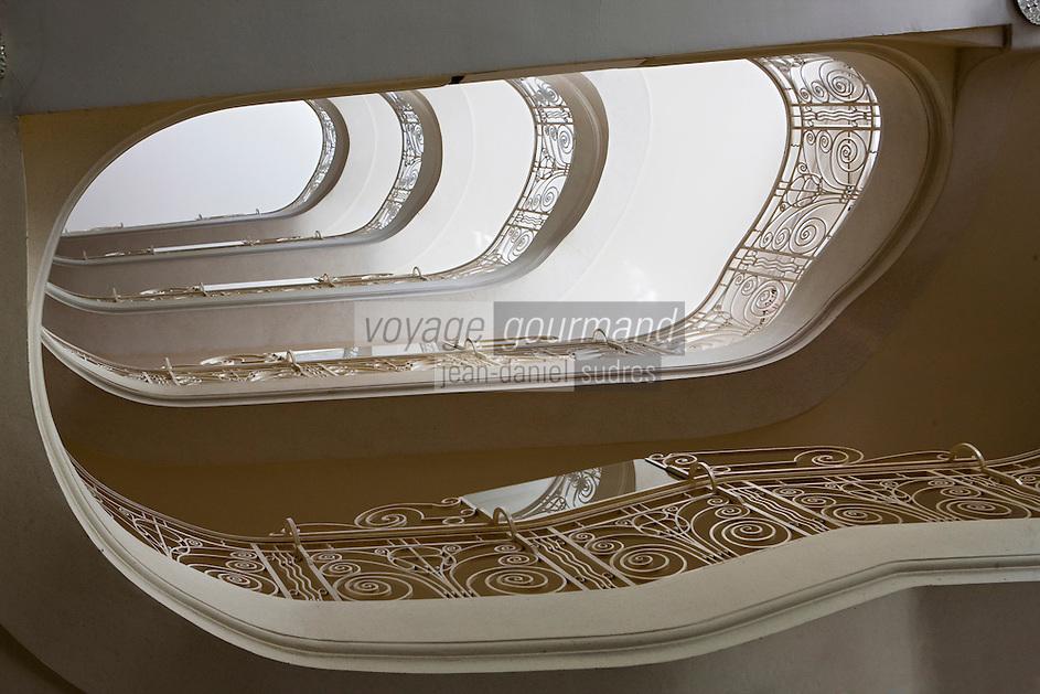 Europe/France/Rhône-Alpes/74/Haute Savoie/ Evian: Evian Royal Resort l'escalier du Hall