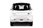 Straight rear view of 2017 Mitsubishi iMiEV 5 Door Micro Car Rear View  stock images