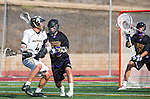 San Diego, CA 05/25/13 - John Rankin (Westview #4) and Jack Beetham (Carlsbad #13) in action during the 2013 Boys Lacrosse San Diego CIF DIvision 1 Championship game.  Westview defeated Carlsbad 8-3.