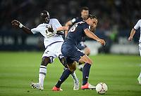 Zlatan IBRAHIMOVIC (psg) - Moussa SISSOKO (tou) .Parigi 17/9/2012.Football Calcio 2012/2013 Ligue 1.Psg Vs Tolosa.Foto Anthony Bibard / Panoramic / Insidefoto.ITALY ONLY