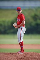 Philadelphia Phillies pitcher J.D. Hammer (26) gets ready to deliver a pitch during an Instructional League game against the Toronto Blue Jays on September 30, 2017 at the Carpenter Complex in Clearwater, Florida.  (Mike Janes/Four Seam Images)
