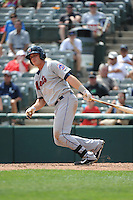 Binghamton Mets outfielder Travis Taijeron (18) during game against the Trenton Thunder at ARM & HAMMER Park on July 27, 2014 in Trenton, NJ.  Trenton defeated Binghamton 7-3.  (Tomasso DeRosa/Four Seam Images)