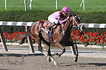 04 10 2009: Dad's Crazy with Julien Leparoux wins the 30th running of the Gade III Miss Grillo, which was taken off the turf and run on a good track at 1 mile at Belmont Park, Elmont, NY