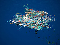 marine debris, garbage, Large tangle of ropes, fishing nets and other rubbish, posing a risk of entanglement to wildlife, Timor Sea, Indian Ocean