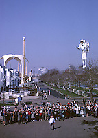 Bell Aviation's Rocket Pack demonstrated at the 1964 World's Fair, New York City.
