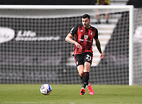 17th October 2020; Vitality Stadium, Bournemouth, Dorset, England; English Football League Championship Football, Bournemouth Athletic versus Queens Park Rangers; Diego Rico of Bournemouth brings the ball forward