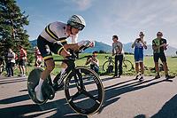 Rohan Dennis (AUS/BMC)<br /> <br /> MEN ELITE INDIVIDUAL TIME TRIAL<br /> Hall-Wattens to Innsbruck: 52.5 km<br /> <br /> UCI 2018 Road World Championships<br /> Innsbruck - Tirol / Austria