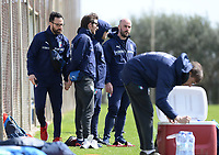 20190226 - LARNACA , CYPRUS :  illustration picture shows the Italian staff during a Matchday -1 training prior to their game against the women team of Mexico , on Tuesday 26 February 2019 at the Alpha Sports Grounds in Larnaca , Cyprus . This will be the first game in group B for Belgium during the Cyprus Womens Cup 2019 , a prestigious women soccer tournament as a preparation on the European Championship 2021 qualification duels. PHOTO SPORTPIX.BE | DAVID CATRY