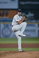 Somerset Patriots starting pitcher Ken Waldichuk (26) in action against the Altoona Curve at TD Bank Ballpark on July 24, 2021, in Somerset NJ. (Brian Westerholt/Four Seam Images)