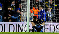 Leeds United's Francisco Casilla Cortes reacts to going 3-0 down<br /> <br /> Photographer Alex Dodd/CameraSport<br /> <br /> The EFL Sky Bet Championship - Leeds United v Norwich City - Saturday 2nd February 2019 - Elland Road - Leeds<br /> <br /> World Copyright © 2019 CameraSport. All rights reserved. 43 Linden Ave. Countesthorpe. Leicester. England. LE8 5PG - Tel: +44 (0) 116 277 4147 - admin@camerasport.com - www.camerasport.com