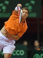15-sept.-2013,Netherlands, Groningen,  Martini Plaza, Tennis, DavisCup Netherlands-Austria, fourth rubber,   Jesse Huta Galung (NED)<br /> Photo: Henk Koster