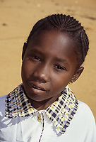 Young Girl with Hairdo for the Eid al-Fitr, Niamey, Niger.